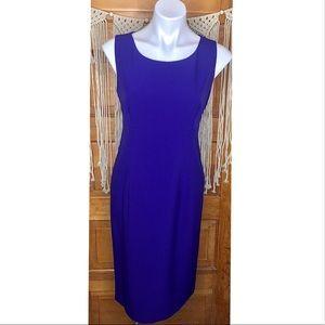 Kasper Cobalt Blue Midi Sheath Dress